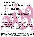 Justicia por el cuádrupe femicidio de La Loma