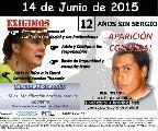 Marcha a 12 años de la desaparición de Sergio Ávalos