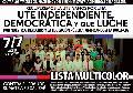 Elecciones en UTE-Ctera: Todo nuestro apoyo a la Lista Multicolor