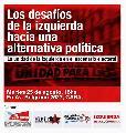 Martes 25/8 - 18 hs: Los desafíos de la izquierda hacia una alternativa política