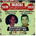 Mor�n: Marcha a Tribunales 24/9. Justicia por Pablo Alcorta y Mauro Rodr�guez
