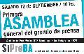 Primera Asamblea General del nuevo Sindicato de Prensa de Buenos Aires