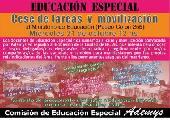Educaci�n Especial: Cese de tareas y movilizaci�n