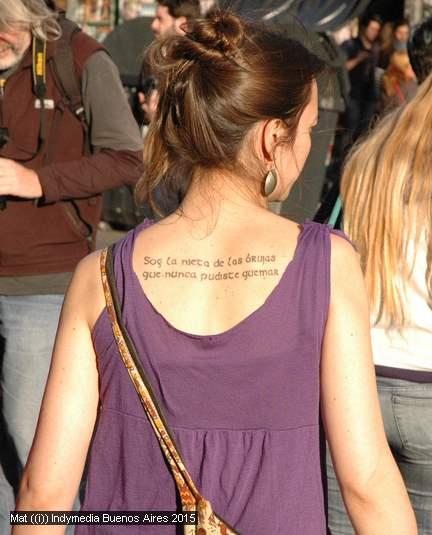 Tatuaje Soy la nieta...
