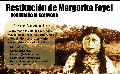 Restitución histórica. Margarita Foyel vuelve a su territorio ancestral