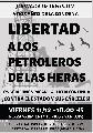 Jornada de difusión. A dos años de la condena: ¡Libertad a los petroleros de las Heras!