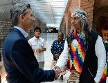Macri se reuni� con F�lix D�az y una delegaci�n de pueblos originarios