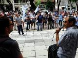 Movilización contra el vaciamiento del Grupo 23 y por el pago de salarios