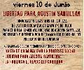 Viernes 10 de junio: Libertad para Agustín Santillán