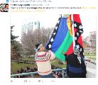 Municipios izaron la bandera mapuche en reconocimiento al pueblo originario