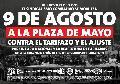 Movilizarán a Plaza de Mayo contra el tarifazo y el ajuste