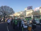 UETTEL march� a Telef�nica Argentina por la reincorporaci�n de los 86 despedidos