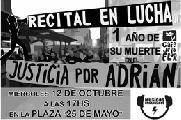 "Festival ""Justicia por Adrián"""