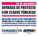 CONADU Histórica protesta dictando Clases Públicas el 10 de noviembre