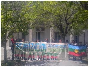 Mapuche en pie de lu...