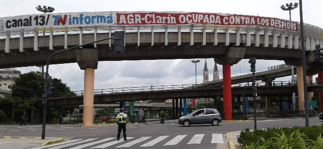 Pancarta en San Juan...