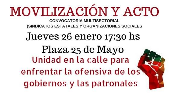 Movilización y acto ...