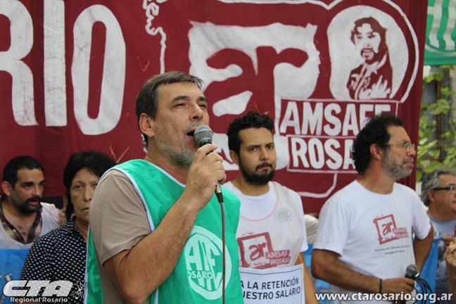 Raúl Daz, ATE Rosari...