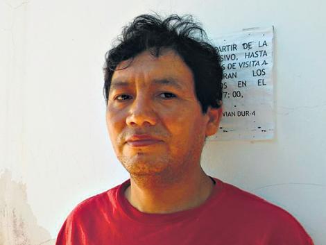 Un dirigente guaraní...