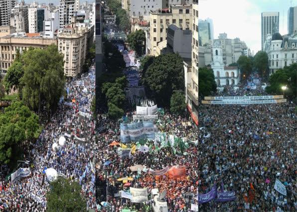 La marcha de la CGT...