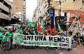 Se lanzó el paro a pura marcha en Rosario