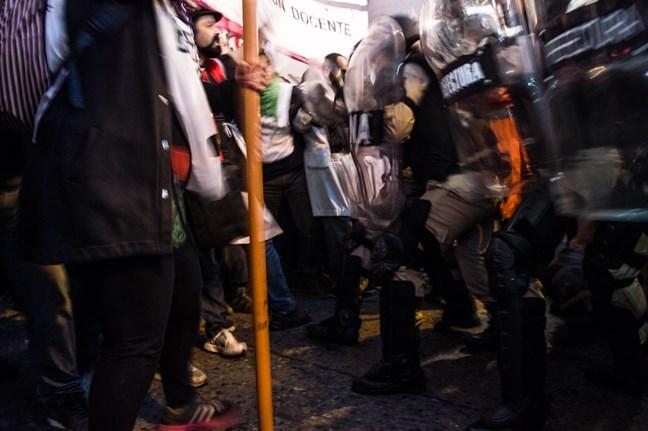 Represión en el prim...