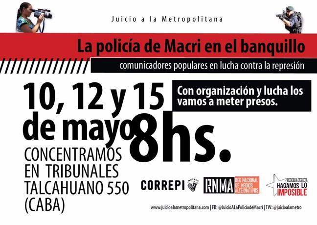 La policía de Macri ...