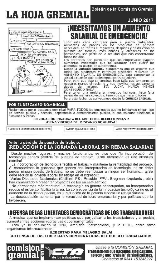 La Hoja Gremial -Jun...
