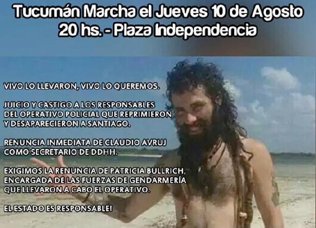 Marcharán en Tucumán...