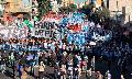 Marcha y reclamo por la ley de emergencia alimentaria en el día de San Cayetano