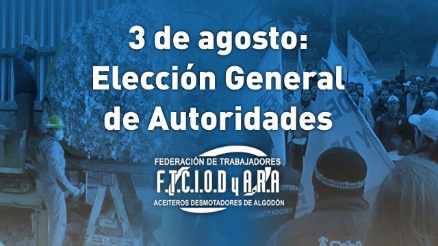 3 de agosto: Elecció...