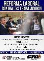 """Panel de Debate: """"Reforma Laboral contra los/as Trabajadores/as"""""""