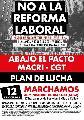 12 de octubre marchamos: No a la reforma laboral
