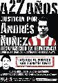 Audencia en Casación por la desaparición de Andrés Nuñez