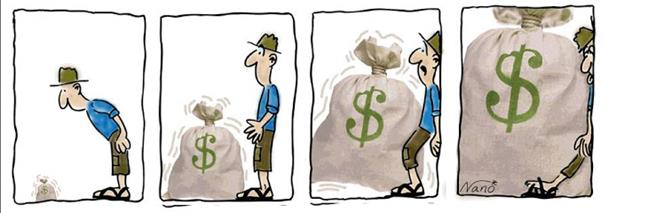 El endeudamiento com...