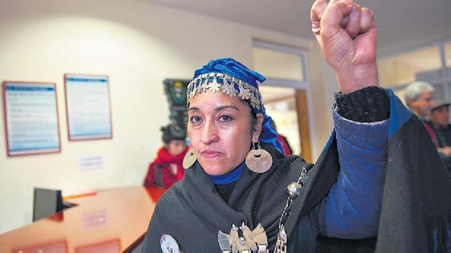 Dirigente mapuche de...