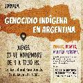 Jornada Genocidio Indígena en Argentina