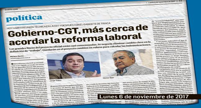 Gobierno y CGT acue...