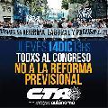 ¡Todos y todas al Congreso contra la Reforma Previsional!