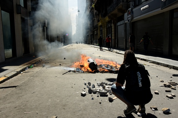 Represión en el Cong...