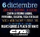 Contra las reformas neoliberales: El 6 de diciembre todos y todas a Plaza de Mayo