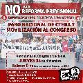 Reforma previsional: Paro Nacional de CTERA y movilización al congreso