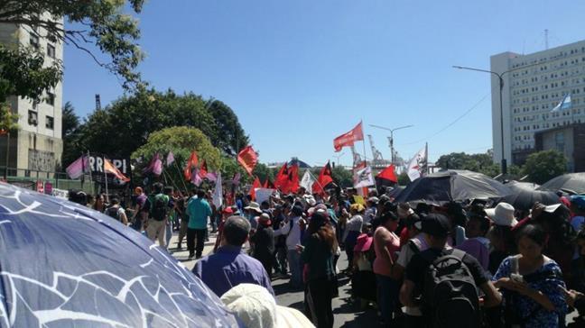 Manifestación en Com...