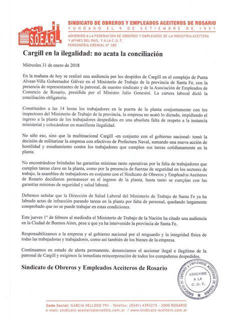 Cargill en la ilegal...
