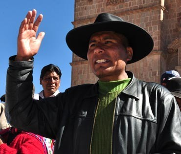 Líder aymara peruano...