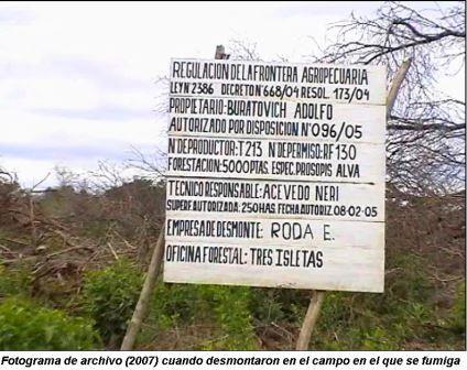 Chaco: Fumigaciones ...