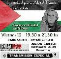 Jornada Cultural - Radio Abierta. Fuera el Sionismo de Palestina y América Latina