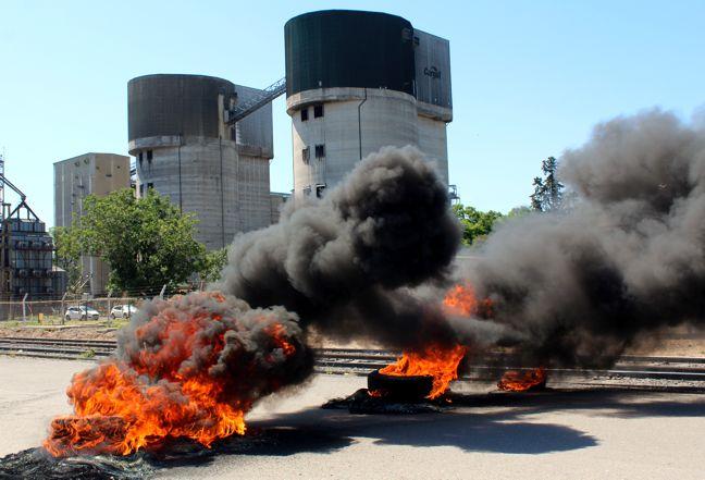 Protestas en Alvear ...