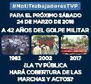 TV Pública: Por la presión de los trabajadores, el sábado 24 de marzo habrá noticias