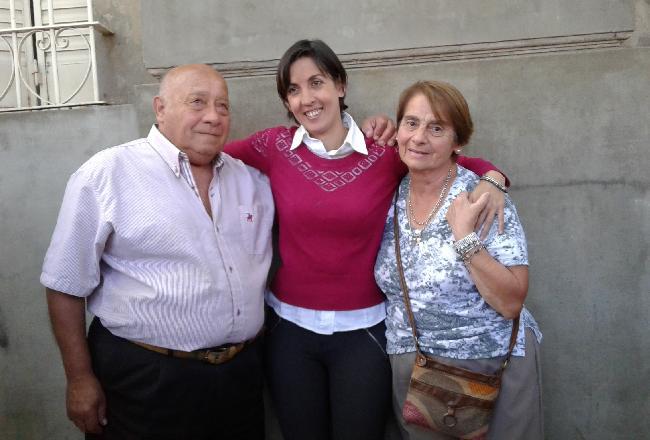 Adriana con Hilda y ...